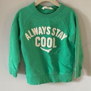 H&M Always Stay Cool Smiley Sweatshirt Kids 2-4 ys